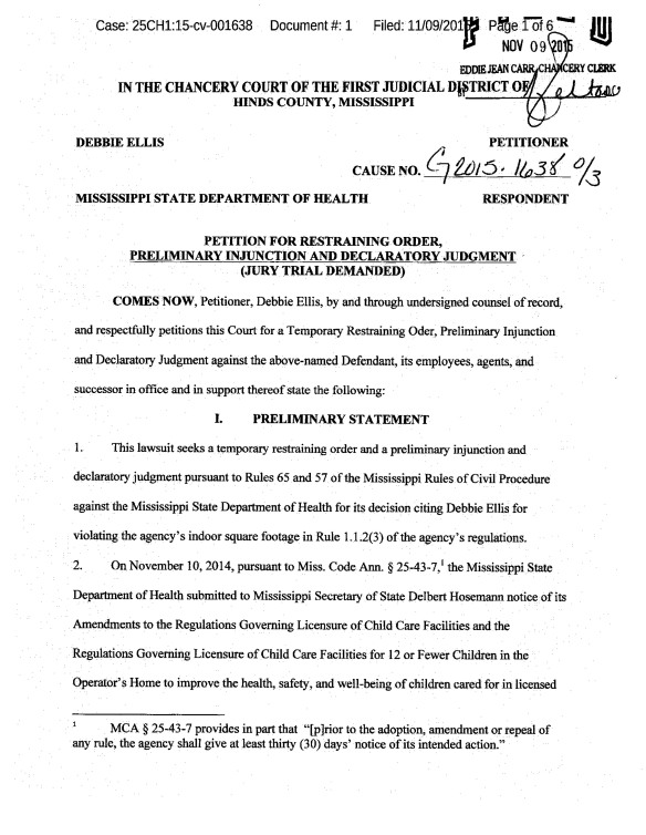 Mississippi Rules Of Civil Procedure >> Child Care Licensing Delta Licensed Providers Page 5